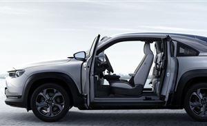 马自达首款电动车 MX-30 用上了对开门式设计